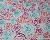 Flannel Fabric - Madison Mums - By the yard - 100% Cotton Flannel