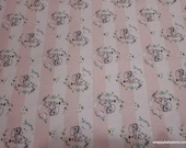 Character Flannel Fabric - Lady and the Tramp Stripe - By the yard - 100% Cotton Flannel