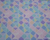 Flannel Fabric - Pastel Geo - By the yard - 100% Cotton Flannel