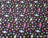 Flannel Fabric - Multi Color Candy - By the yard - 100% Cotton Flannel