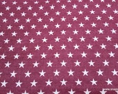 Flannel Fabric - Stars on Red - By the yard - 100% Cotton Flannel