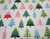 Christmas Flannel Fabric - Modern Christmas Trees -By the Yard - 100% Cotton Flannel