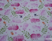 Flannel Fabric - Little Piggies - By the yard - 100% Cotton Flannel