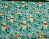 Character Flannel Fabric - Winnie the Pooh Forest - By the yard - 100% Cotton Flannel