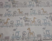Character Flannel Fabric - Disney Baby Dumbo Circus - By the yard - 100% Cotton Flannel