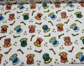 Character Flannel Fabric - Harry Potter Hogwarts Soft Wash - By the yard - 100% Cotton Flannel
