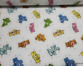 Character Flannel Fabric - Care Bears Belly Badge - By the yard - 100% Cotton Flannel