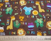 Flannel Fabric - Safari Tossed Brown - By the yard - 100% Cotton Flannel