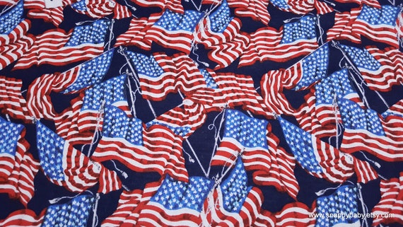 Flannel Fabric - Flying Flags - By the yard - 100% Cotton Flannel