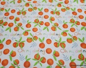 Flannel Fabric - Darling Clementine Main - By the yard - 100% Cotton Flannel