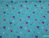 Flannel Fabric - Glam Hearts - By the Yard - 100% Cotton Flannel