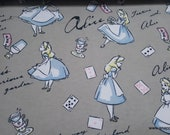 Character Flannel Fabric - Alice in Wonderland - By the Yard - 100% Cotton Flannel