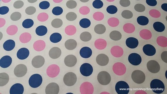 Flannel Fabric - Dot Prism Pink - By the yard - 100% Cotton Flannel