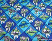 Character Flannel Fabric - Toy Story 4 Buzz Lightyear - By the yard - 100% Cotton Flannel