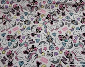 Flannel Fabric - Minnie Mouse Unicorn Dreams on White - By the yard - 100% Cotton Flannel