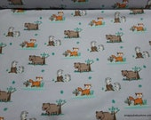 Flannel Fabric - Kind Nature - By the yard - 100% Cotton Flannel