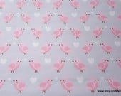 Flannel Fabric - Baby Bird Pink - By the yard - 100% Cotton Flannel