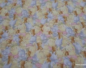 Premium Flannel Fabric - Packed Bunny and Bear Premium Flannel - By the Yard - 100% Cotton Flannel