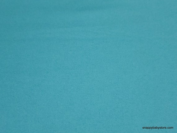 Flannel Fabric - Blue Radiance Solid - By the yard - 100% Cotton Flannel