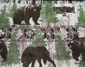Flannel Fabric - Realistic Wild Animals - By the yard - 100% Cotton Flannel