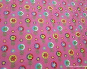 Flannel Fabric - Magic Floral - By the yard - 100% Cotton Flannel