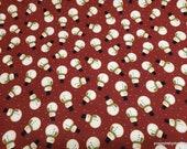 Christmas Premium Flannel Fabric - Jingle Bell Crossroads Snowman Red Premium - By the yard - 100% Premium Cotton Flannel
