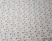 Flannel Fabric - Madison Dot - By the yard - 100% Cotton Flannel