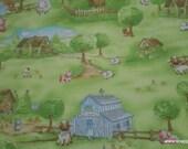 Flannel Fabric - Farm Scenic Premium - By the yard - 100% Premium Cotton Flannel
