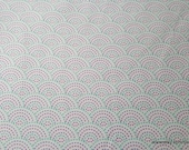 Flannel Fabric - Gypsy Dotted Scales White - By the yard - 100% Cotton Flannel