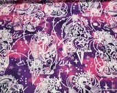 Flannel Fabric - Intricate Constellation Shapes - By the yard - 100% Cotton Flannel