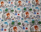 Flannel Fabric - After School Playtime - By the Yard - 100% Cotton Flannel