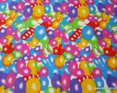 Flannel Fabric - Bunny Balloons - By the yard - 100% Cotton Flannel