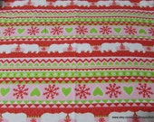 Christmas Flannel Fabric - Fair Isle Polar Bear - By the yard - 100% Cotton Flannel