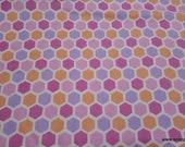 Premium Flannel Fabric - Peek a Boo Hexagons Premium - By the yard - 100% Cotton Flannel