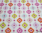 Flannel Fabric - Bright Tribal Aztec - By the yard - 100% Cotton Flannel