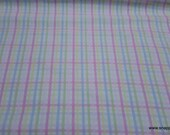 Flannel Fabric - Bunny Gingham - By the yard - 100% Cotton Flannel