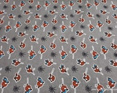 Character Flannel Fabric - Spiderman Kawaii on Gray - By the yard - 100% Cotton Flannel