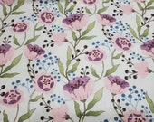 Flannel Fabric - Springtime Blossom - By the yard - 100% Cotton Flannel