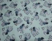 Flannel Fabric - Mammoth and Penguins - By the yard - 100% Cotton Flannel