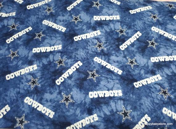 Team Flannel Fabric - Dallas Cowboys Tie Dye - By the yard - 100% Cotton Flannel