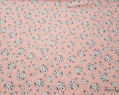 Flannel Fabric - Ava Pink Ditsy Floral - By the Yard - 100% Cotton Flannel