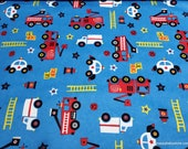 Flannel Fabric - Rescue Royal - By the yard - 100% Cotton Flannel