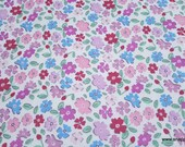Flannel Fabric - Princess Multi Floral - By the yard - 100% Cotton Flannel