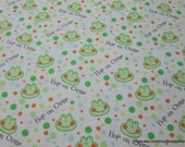 Flannel Fabric - Happy Jungle Hop On Over - By the yard - 100% Cotton Flannel