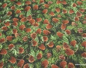 Flannel Fabric - Pine Cones Premium Flannel - By the yard - 100% Cotton Flannel