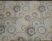 Flannel Fabric - Neutral Spirals - By the yard - 100% Cotton Flannel