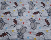 Character Flannel Fabric - Dumbo With Dots - By the yard - 100% Cotton Flannel