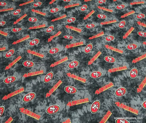 Team Flannel Fabric - San Francisco 49ers Tie Dye - By the yard - 100% Cotton Flannel