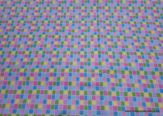 Flannel Fabric - Checks - By the yard - 100% Cotton Flannel