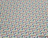 Flannel Fabric - Confetti Dot Multi - By the yard - 100% Cotton Flannel